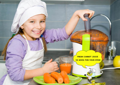 Young-girl-making-carrot-juice